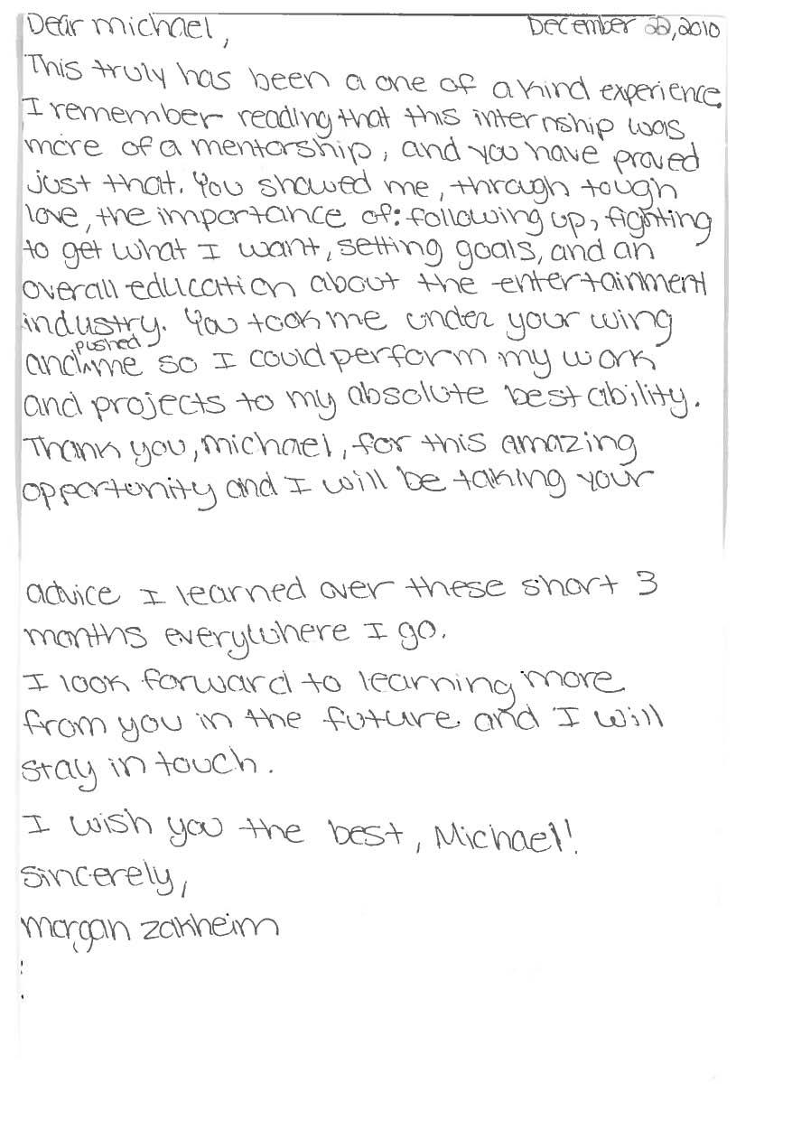 Thank You Letter To Internship Supervisor Gallery Letter Format
