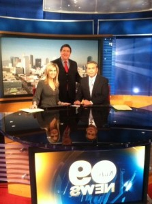 Michael Kelly appears on KCAL News Channel 9