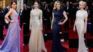 Hollywood A listers on the red carpet of the Academy Awards