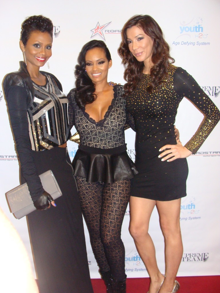 Basketball Wives cast members Tasha Marbury, Evelyn Lozada, and Suzie Ketchum