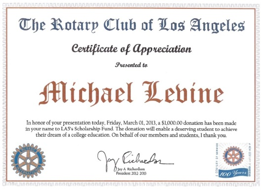 Rotary Club Los Angeles